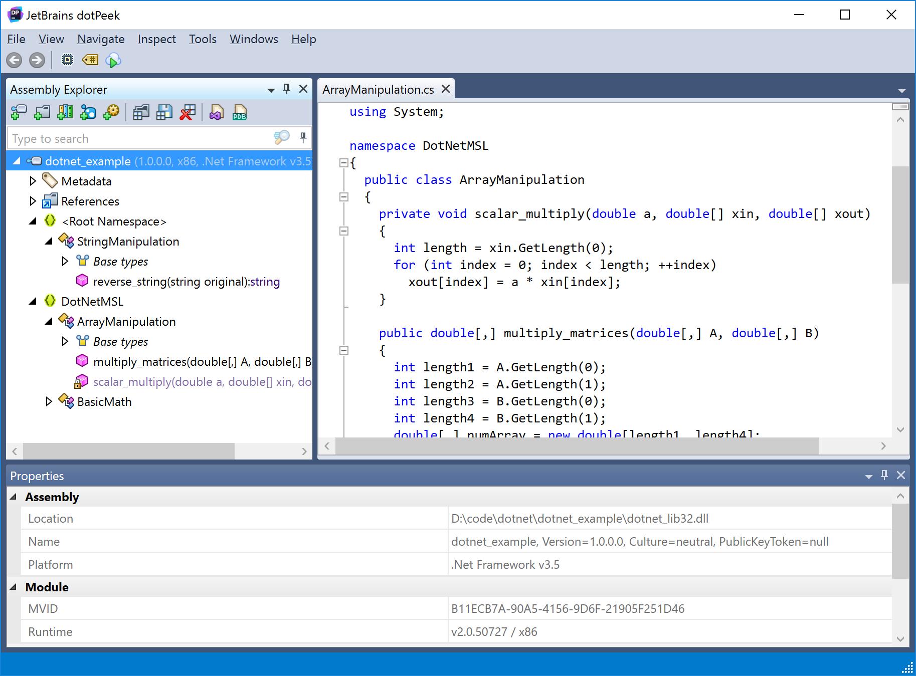Load a 32-bit  NET library in 64-bit Python — MSL-LoadLib